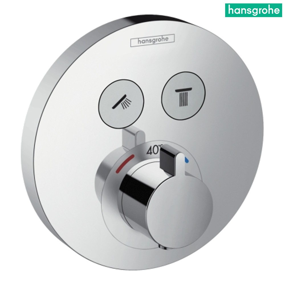 Dusche Unterputz Installation : Unterputz Thermostat 15743000 , 15743, chrom, Select Bad Brause/Dusche
