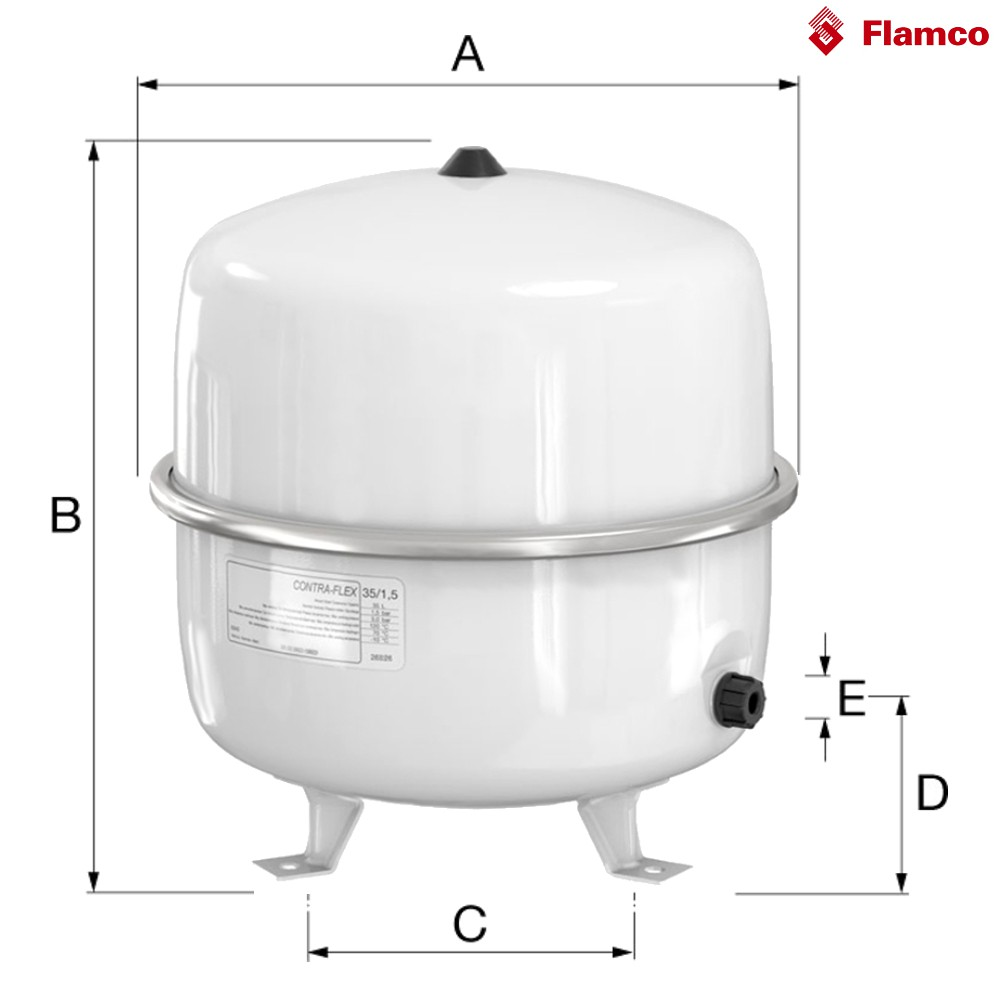 Wundervoll Flamco Contra Flex Ausdehnungsgefäß für Heizung & Solar 35L Contra  KG31